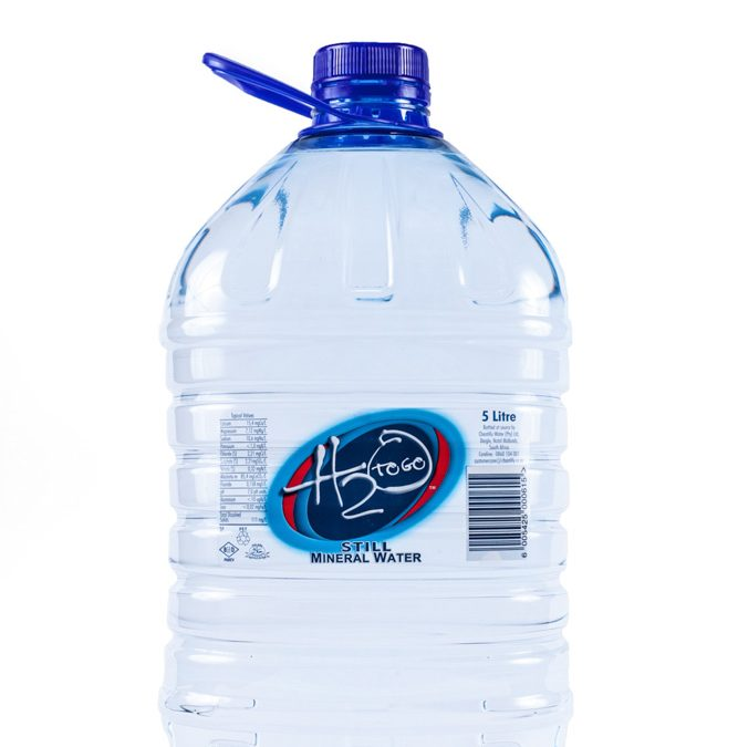 Professional studio photography bottled water H20